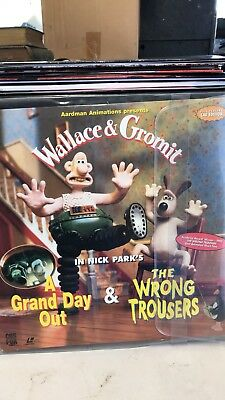 Wallace & Gromit A Grand Day Out  & The Wrong Trousers  Laser Disc