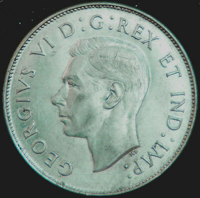 Canada 1945 George Vl 50 Cents  #140256