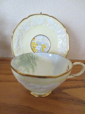 """Lovely PARAGON Cup & Saucer """"WOODLAND BLUEBELL"""" Raised Floral Design 3558/2"""