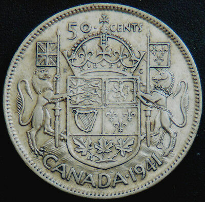 Canada 1941 George Vl 50 Cents  #140104