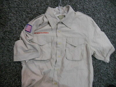 Lot Of 4 New Youth Boy Scout Short Sleeve Shirts Medium Free Ship