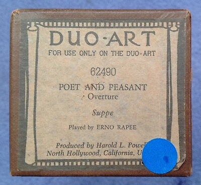 Piano Roll - DUO-ART recut - POET AND PEASANT OVERTURE - Franz von Suppe