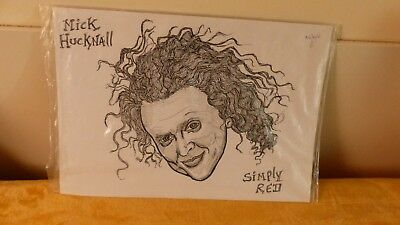 simply red mick hucknell sketch by mike taylor