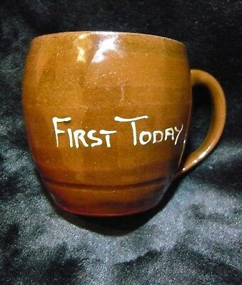 Creigiau Slipware Pottery Wales Comical Tankard/beer Mug - 'first Today'  - Liar