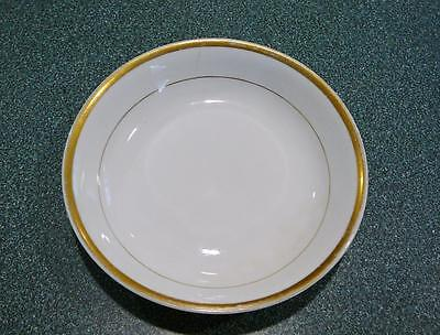 "Lovely Antique Brown Marked Noritake (M) Nippon White Gold Trimmed 5 1/4"" bowl."