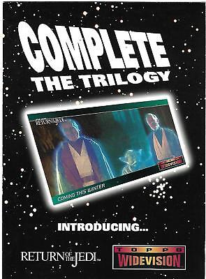 Star Wars ROTJ Widevision Rare Oversize Unnumbered Promo Card Return of the Jedi