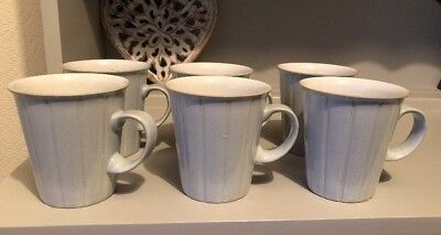 Denby Spirit Mugs X 6, Grey Unboxed Excellent Condition