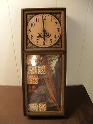 """Great Wooden """"pepsi"""" Wall Clock Battery Operated Cool Design"""