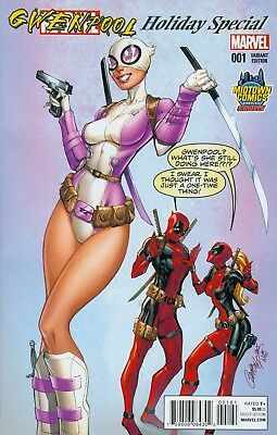 Gwenpool Special #1 J Scott Campbell Midtown Exclusive Variant feat. Deadpool