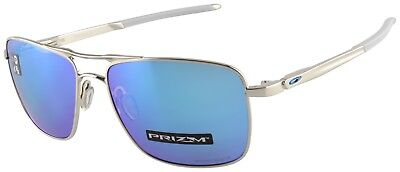 Oakley Gauge 6 Sunglasses OO6038-0257 Polished Chrome | Prizm Sapphire Lens BNIB