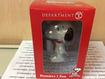 Snoopy By Design Number ! Fan Department 56 New In Window Box Peanuts Collector