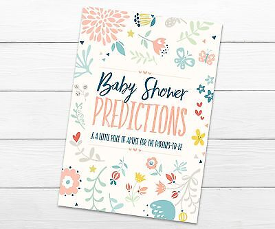 Baby Shower Prediction & Advice Party Game Quiz- Pack of 10 - Boy Girl Unisex