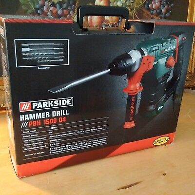 Parkside Hammer Drill Pbh 1500W D4 Boxed Made In Germany