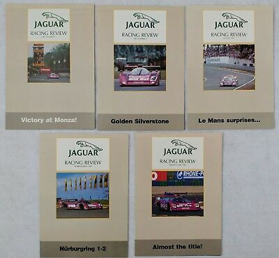 1991 Jaguar Racing Review Set of 5 Newsletters Silk Cut XJR-14 WSC IMSA GTP TWR