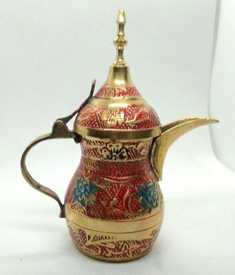 Dallah Pot Coffee Copper Antique Islamic  Vintage Bedouin Arabic Brass Middle