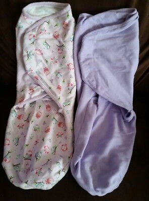 Summer Infant SwaddleMe Swaddle s, Lavender Owl, Large, 2 Count