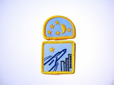 Set of 2 Brownies TODAY & TOMORROW Opening & Widening Window Badge Patch Guides