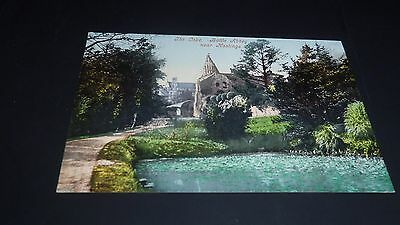 Vintage Tinted Postcard The Lake, Battle Abbey, Hastings, Sussex (Ref 17)