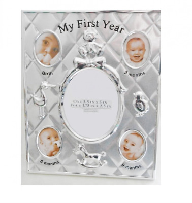 Briarwood My First Year  Photo Frame in Silver-tone