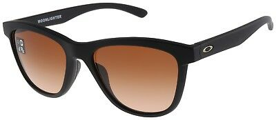 Oakley Women's Moonlighter Sunglasses OO9320-02 Black with VR50 Brown Gradient