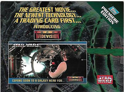 Star Wars ANH Widevision Rare Oversize Unnumbered Promo Card A NEW HOPE