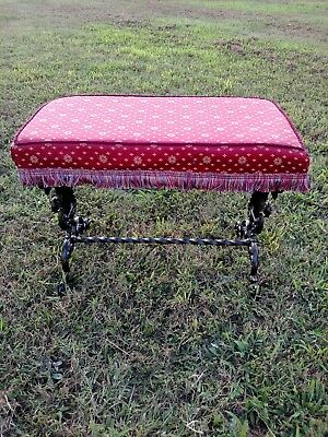 1800's CAST IRON MELODEON PIANO OR PIANO BENCH OR VANITY BENCH---UNIQUE DESIGN