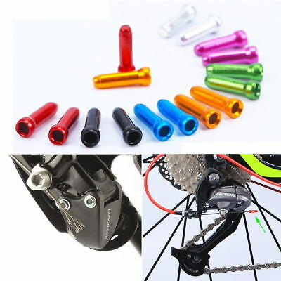 50 Pcs MTB Bike Brake Cable End Cap Aluminum Alloy Shift Cable Tips