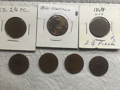 Two Cent Pieces-Various Dates
