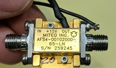 Miteq AFS4-00102000-65 LNA 20 GHz Amplifier Tested Guaranteed (A20)