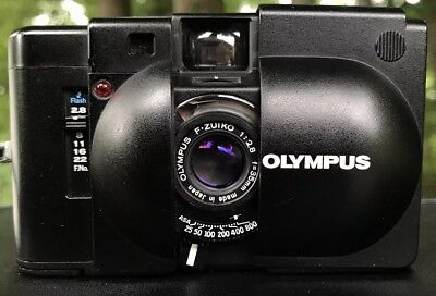 Olympus XA Rangefinder 35mm With A11 flash Excellent Condition *Film Tested*