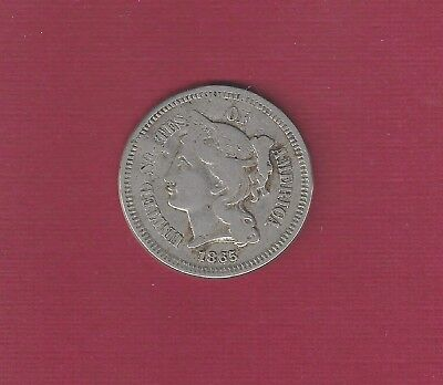 "U.S. 1865 3 cents Counterstamped on reverse ""Hatch's Restaurant Main & 3rd"" Wis"
