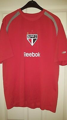 Mens Football Shirt - Sao Paulo Brazil Club Team - Training - Reebok - Size M UK