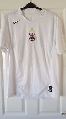 Mens Football Shirt - S.C. Corinthians - Nike - Home 2004-05 - White - #10 - M