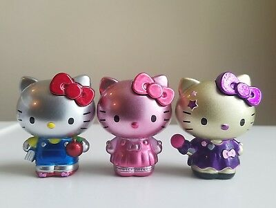 Jada Metal Toys Die Cast Figures - Sanrio Hello Kitty Lot Of 3 Rare