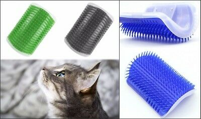 Wall Corner Grooming Massage Pet Cat dog Self Groomer Brush Cat Toy Cleaner