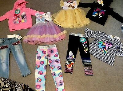 Size 3 Girls Mixed Clothes BNWT Belle Trolls Shimmer And Shine My Little Pony