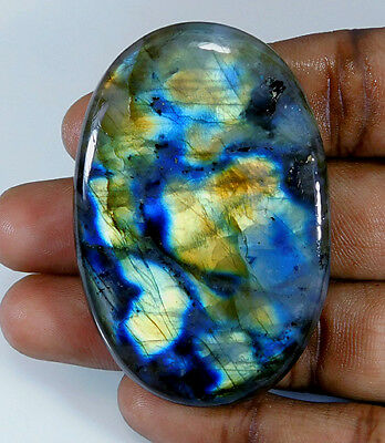 Natural Multi Labradorite Cabochon Gemstone Oval 163.50Cts.;#83794