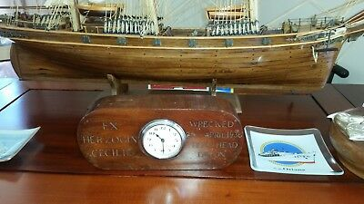 Clock made from oak salved off the wreck of the 4 masted barque Herzogin Cecille