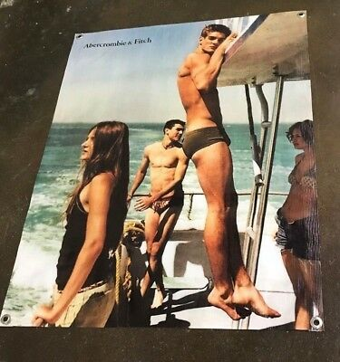 Abercrombie clothing poster swimming suit banner sign boat