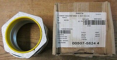 """NEW NOS Crouse Hinds HUB-10 4"""" Inch Conduit Hub Cast Iron"""