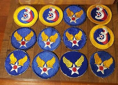 Lot of WW2 Patches - US ARMY AIR FORCE USAAF Shoulder U.S. WWII Military USA