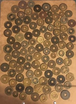 100 Chinese Cash Coins many VF-AU Ancient & Medieval #CY2
