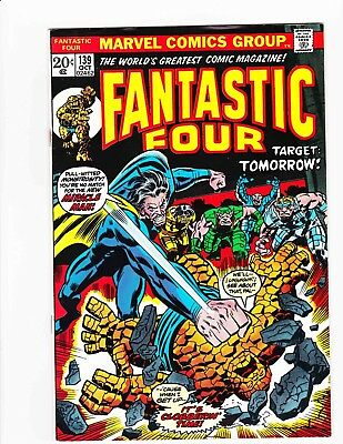FANTASTIC FOUR #139 Oct 1973 MIRACLE-MAN TOMORROW - Condition 6.0 FN