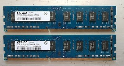 Two pieces of Elpida DDR3 2G RAMs (total 4G)