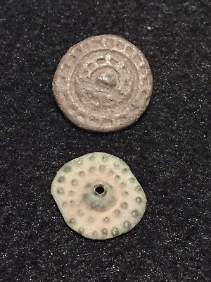 Ancient Roman Artifacts, Two Belt Mounts With Fine Detail