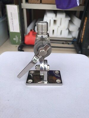 Marine-Boating-Sailing-Stainless Steel Antenna Mount-EXCELLENT CONDITION