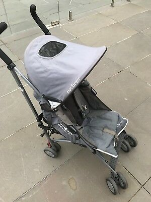 Maclaren, Stroller Grey, collapsible hooded cover, brakes