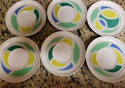 Noritake Hawaiian Holidays Younger Image China 6 Saucers Tea Plates 1980's