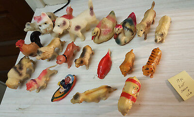 VINTAGE RARE Celloid FIGURINES lot of 19 / Made In Occupied Japan & usa