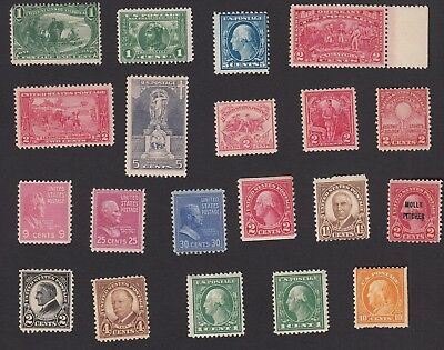 USA :  Pretty Nice Lot of Old Mint stamps MOG LH, hinged
